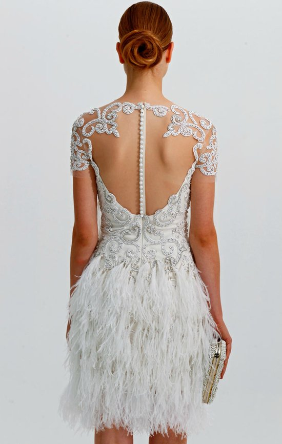 statement backs 2012 wedding dress trends marchesa wedding receptoin dress