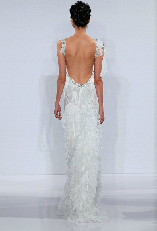 photo of statement back wedding dresses 2012 bridal trends pnina tournai 2