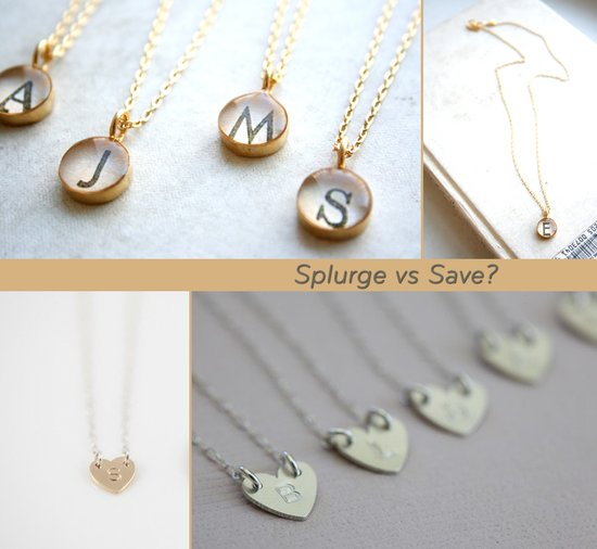 splurge vs save bridesmaids gifts