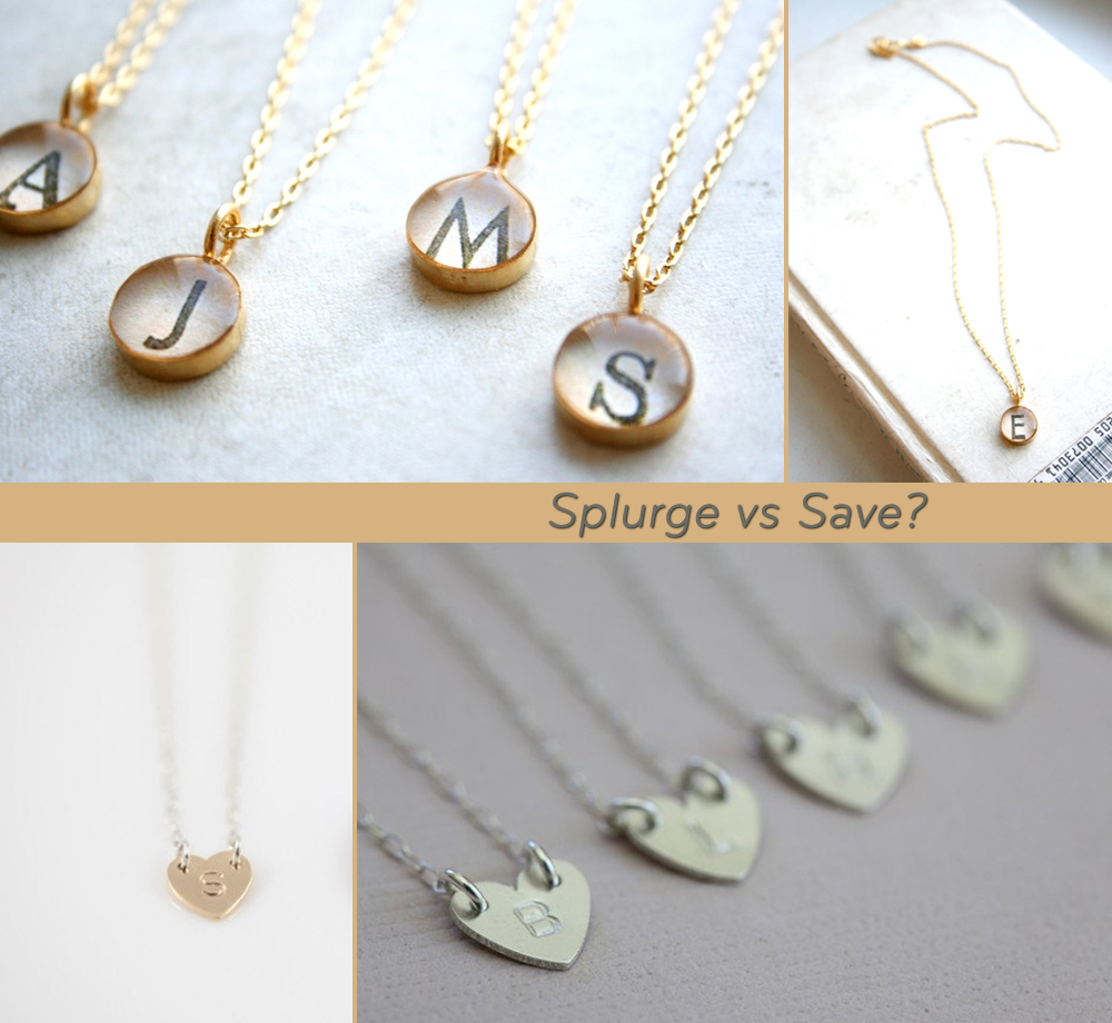 Unique Wedding Gift Ideas For Bridesmaids : splurge vs save bridesmaids gifts OneWed.com