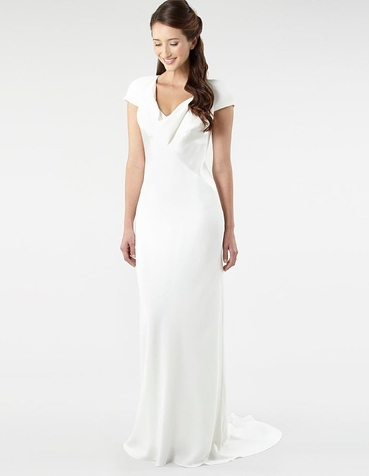 photo of pippa middleton inspired wedding dress simple