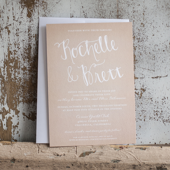 Taupe and Ivory Wedding Stationary