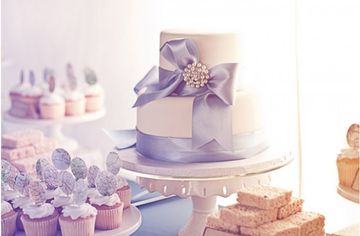Winter-white-wedding-cake-light-lavendar-ribbon.full
