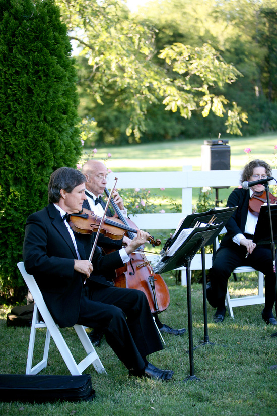 wedding ceremony quartet at cedarwood