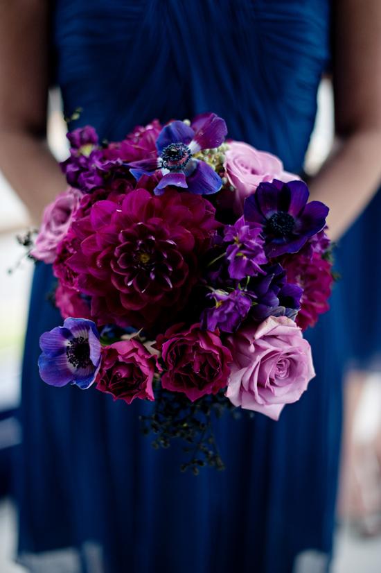 Dark Blue And Purple Flowers