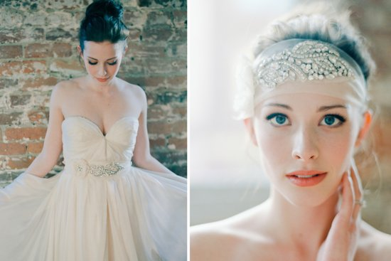 Stunning wedding veils and headpieces by Serephine 2