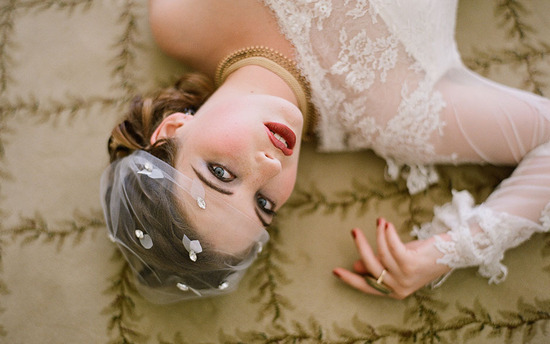 stunning wedding veil for Gatsby inspired brides