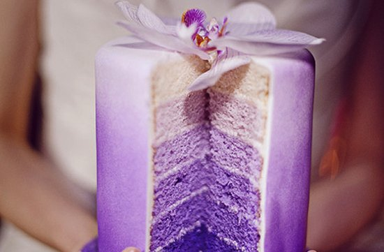 purple wedding cakes ombre 2012