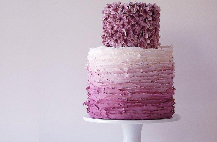 Ombre Wedding Cake Maggie Austin - Austin Wedding Cake