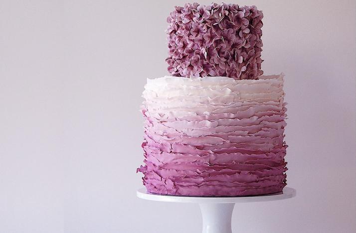 pastel de bodas ombre
