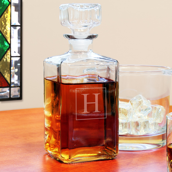 Personalized Glass Whiskey Decanter