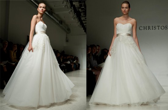 christos ballgown wedding dress 2012 bridal gowns NYC