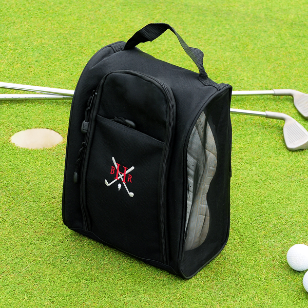 Custom Black Golf Shoe Bag