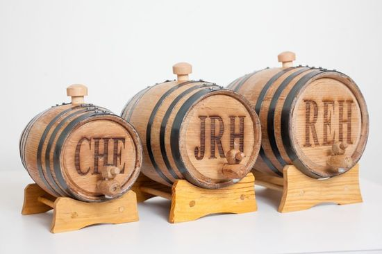 photo of Mini Bourbon Whiskey Barrels