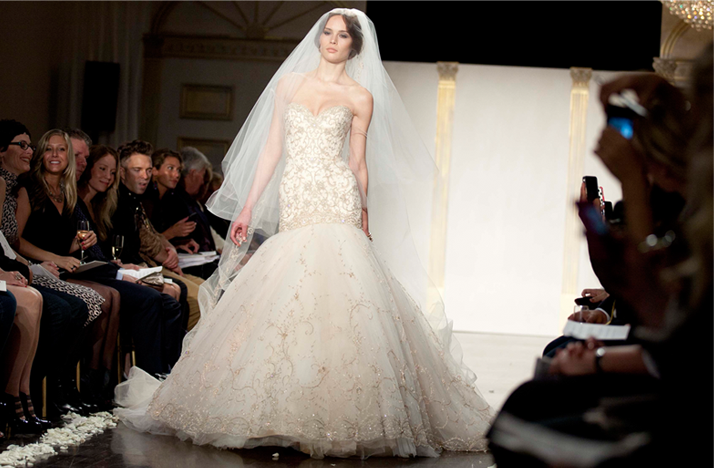 Lazaro blush wedding dresses