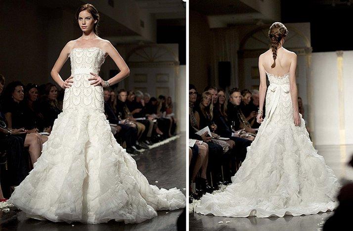 Strapless Mermaid Wedding Gown: Drop Waist Mermaid Strapless Bridal Gown 2012 Wedding Dresses