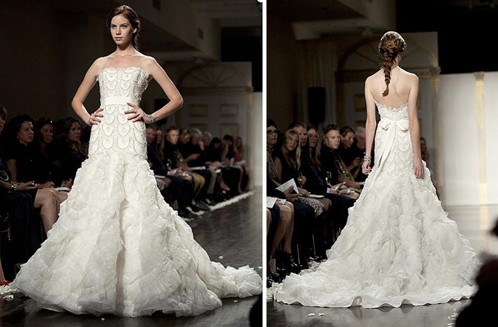 Strapless Mermaid Wedding Gown: Drop Waist Mermaid Strapless Bridal Gown 2012 Wedding