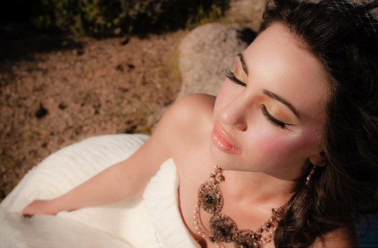 photo of Gilded Desert Chic Wedding Inspiration
