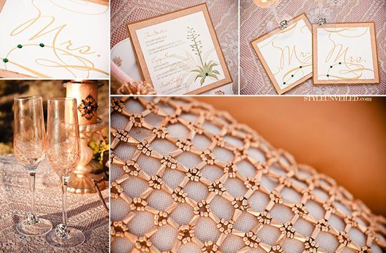 gold wedding inspiration elegant romantic wedding reception table