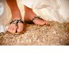 Desert-chic-wedding-bride-wears-bejeweled-sandals.square