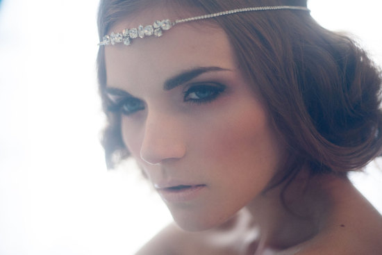 Crystal headband for romantic vintage brides