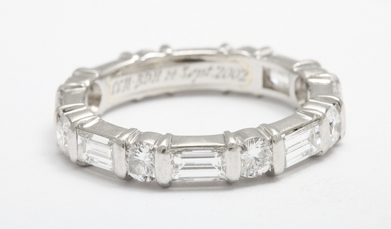 Harry Winston platinum and diamond wedding band