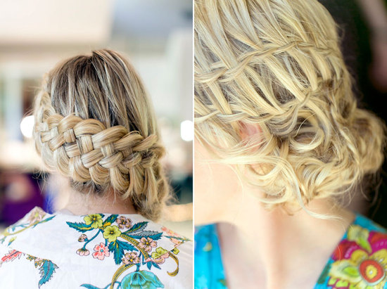 Braided wedding hairstyle at Palm Springs I Dos