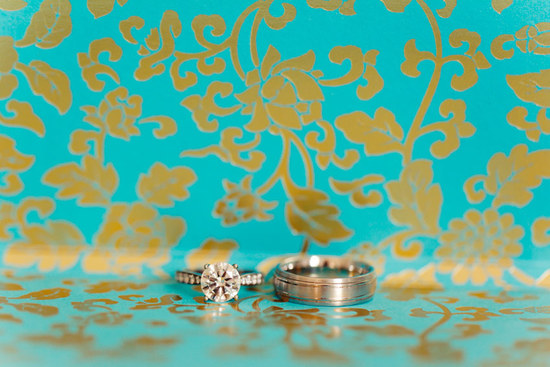 Dazzling engagement wedding ring photo with bold backdrop