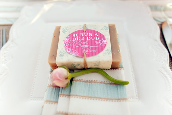 Handmade soaps as wedding guest favors