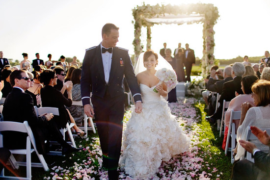 Romantic military wedding at Pelican Hill