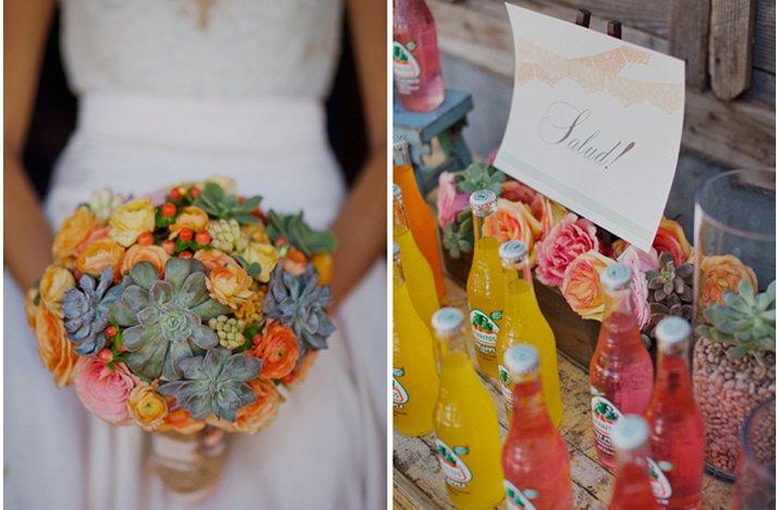 Eco-friendly-wedding-flowers-succulent-bridal-bouquet-orange-pink-green.full