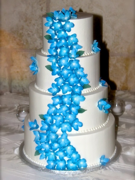 Blue Flowers by Sweet Treats Bakery