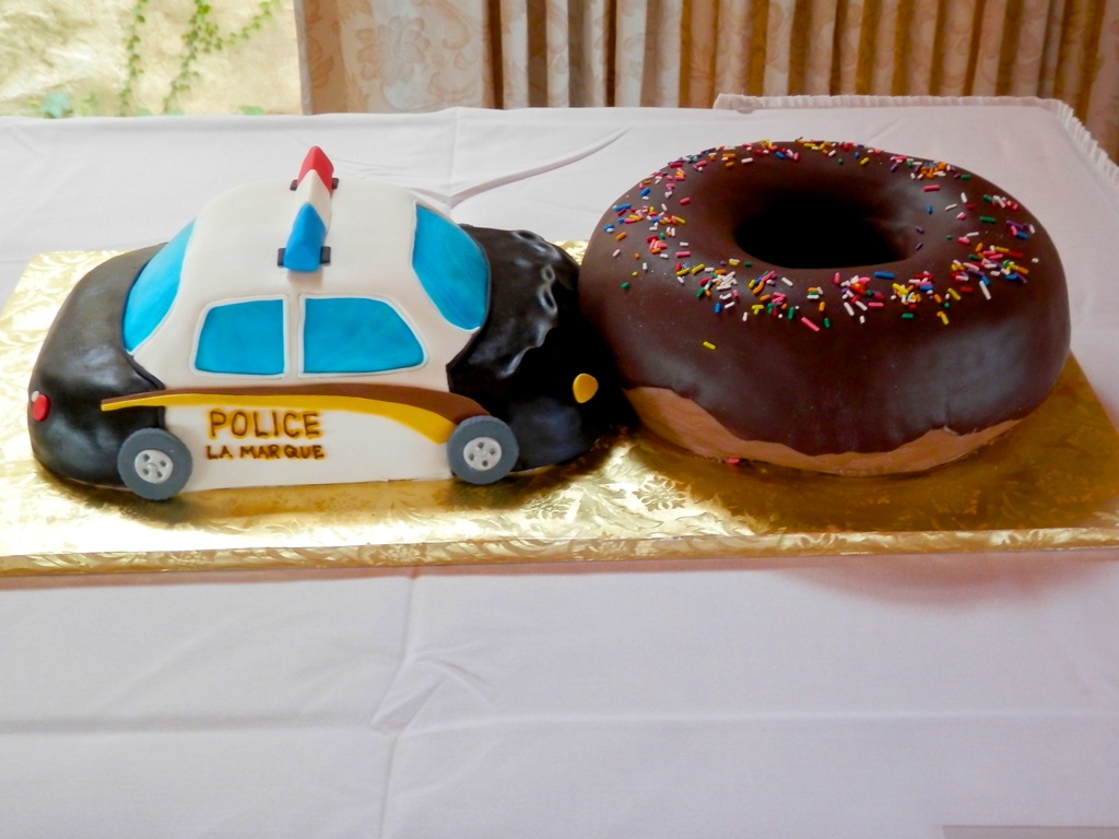 Cop Car Wedding Cake