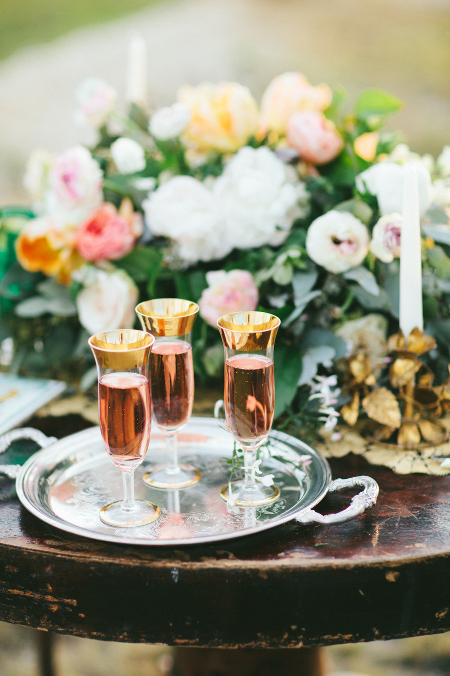 Rose-champagne-at-enchanted-wedding-reception.full