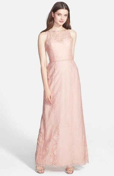 Rose gold bridesmaid dress
