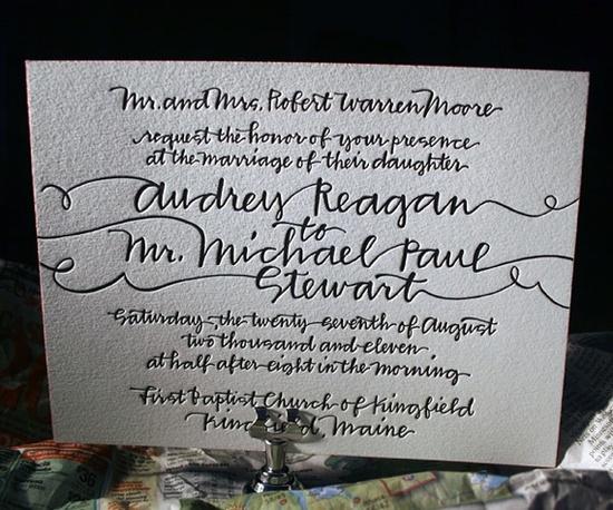 photo of splurge vs save wedding invitations