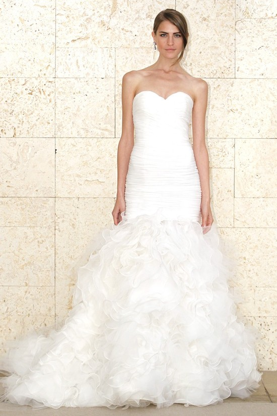 oscar de la renta wedding dress spring 2012 bridal gowns 4