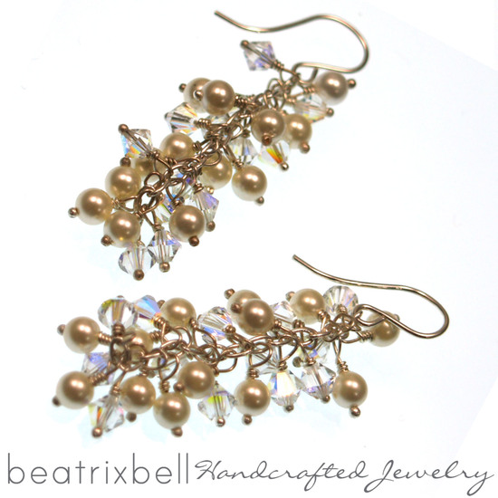 bridal-cluster-earrings