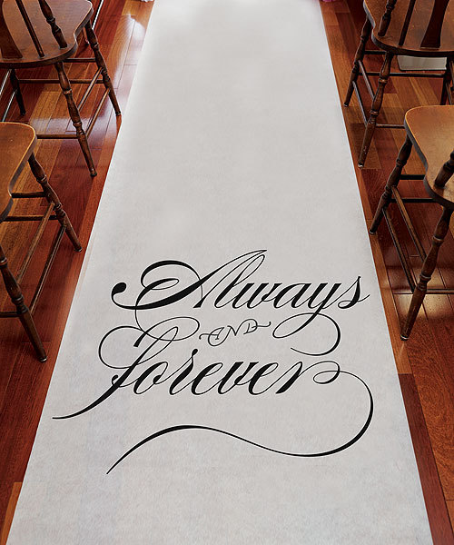 Always and Forever Wedding Aisle Runner