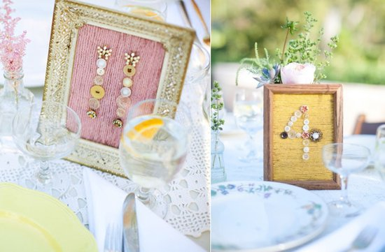 photo of button table numbers diy wedding reception ideas