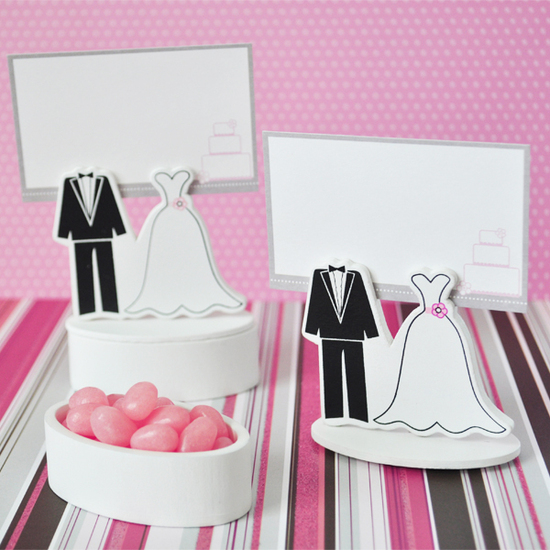 Bride Groom Place Card Favor Boxes