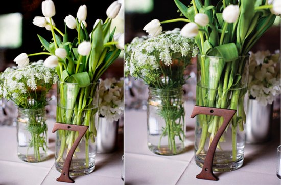 photo of unique wedding reception table number ideas 1