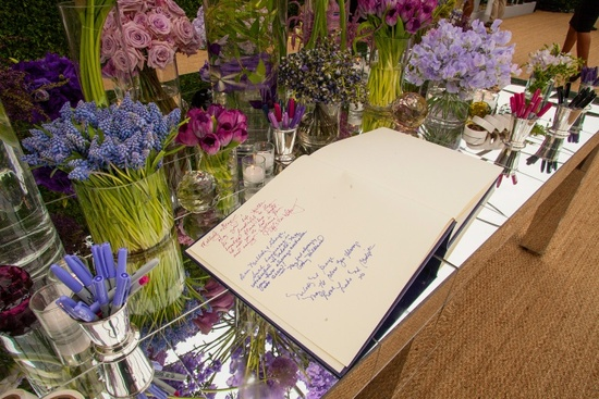 George Lucas Weds Mellody Hobson wedding reception guest book
