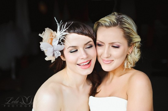 Beautiful wedding day makeup bride with MOH