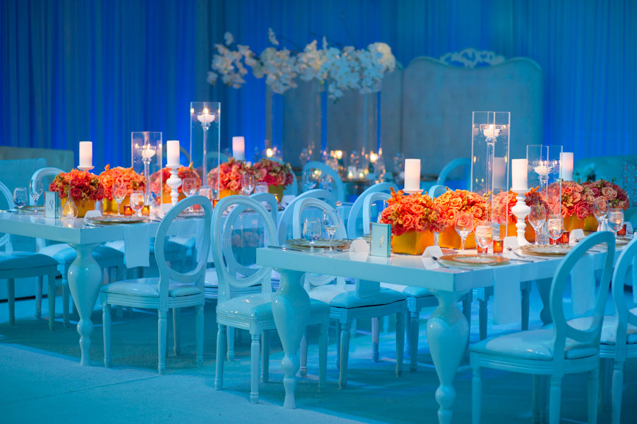 Royal Blue And Orange Wedding Decor - Wedding Ideas