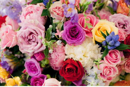 colorful and bright wedding flowers for summertime