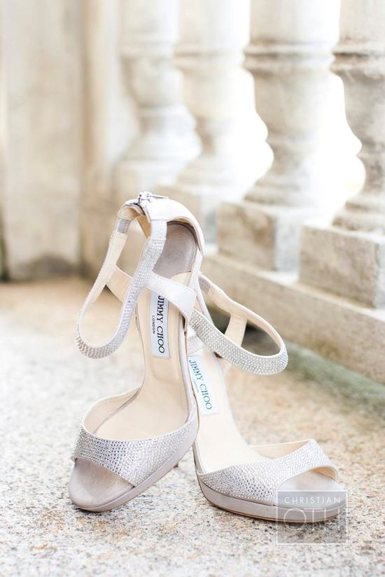 Lilac and silver Jimmy Choo wedding shoes
