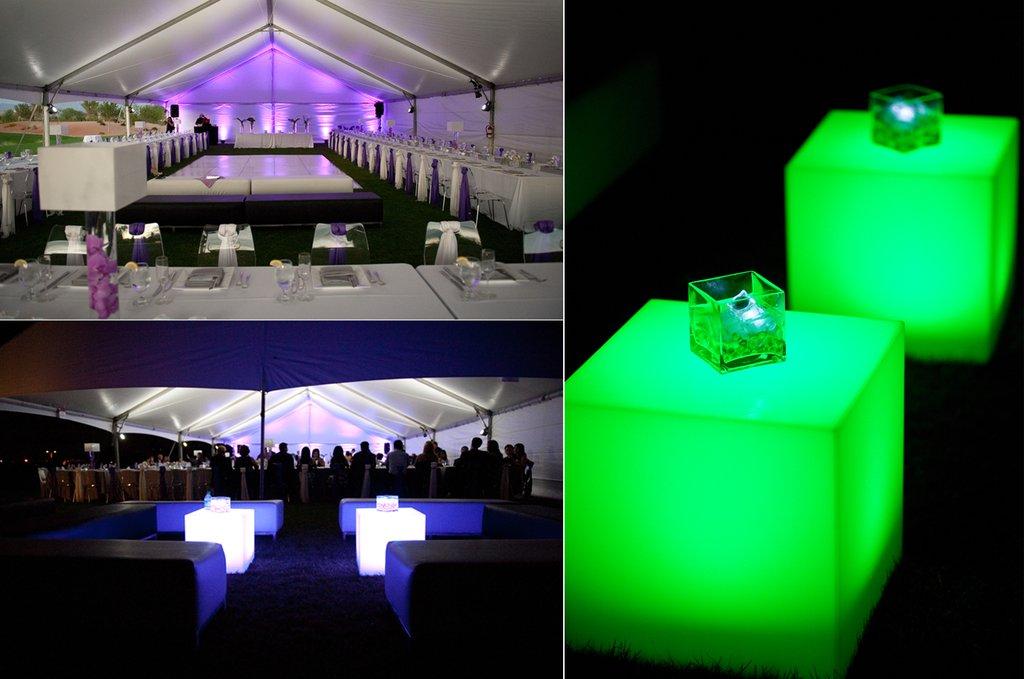 Led lighting wedding reception decor ambiance for Ambiance decoration