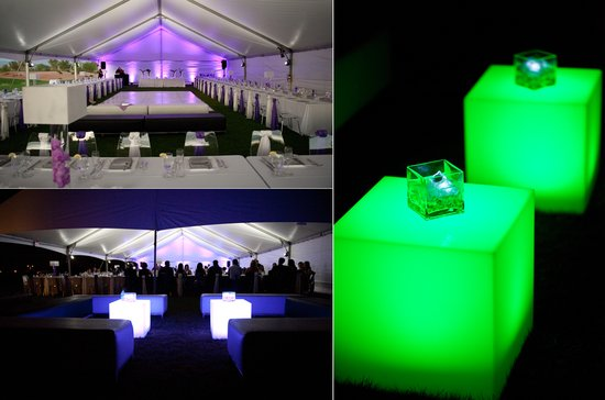 led lighting wedding reception decor ambiance