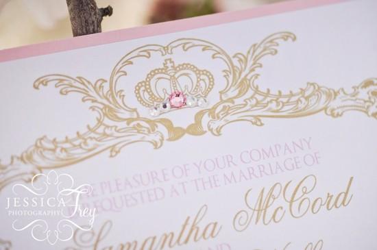photo of Sleeping Beauty style wedding invitation
